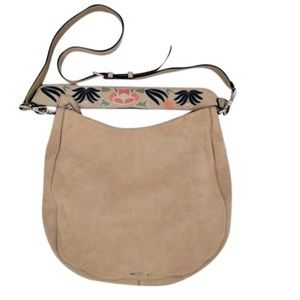 Rebecca Minkof Leather Bag with Embroidered Strap